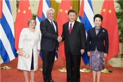 Xi holds talks with Cuban president to advance ties