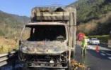 廂式貨車高速上起火,整整一車的新鮮水果被烤焦……