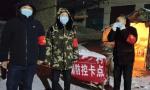 """河南郏县:雪夜里舞动的""""红袖章"""""""