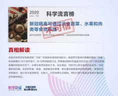 """科学辟谣平台与中国互联网联合辟谣平台共同发布6月""""科学""""流言榜"""