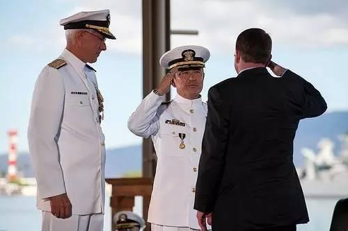 资料图:2015年5月27日,哈里斯接任美国第24任太平洋战区司令。