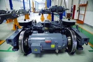 器和二系垂向减震器或空气弹簧(空气弹簧气路中的节流阀具有减振作用)图片