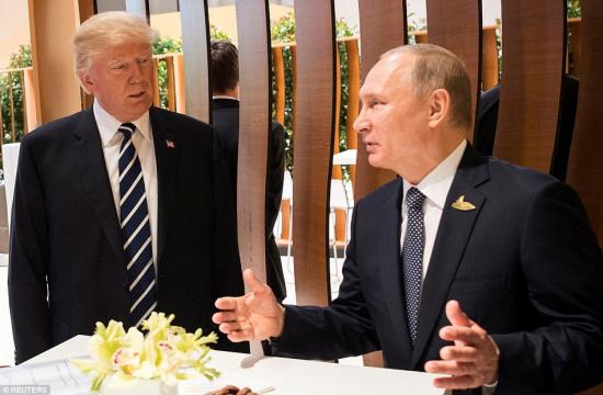 普京 特朗普 会晤 握手/在被问及普京本人是否期待与特朗普的会晤时,佩斯科夫给出了...