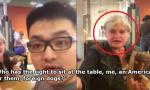 """中国小伙携女友吃快餐 遭美国老太骂""""外国狗"""""""