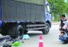 大货车出事故致人死亡如出一辙 沪警方集中整治