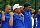 斯里兰卡总统练瑜伽
