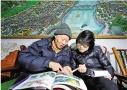 给1300多年的古城画实景图 武义老中医画笔留乡愁