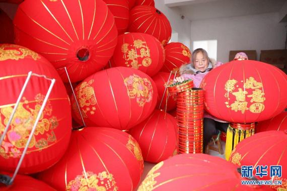 河南温县:新春近 灯笼俏