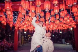 河南郏县:迎鼠年!三苏园新春灯会亮灯