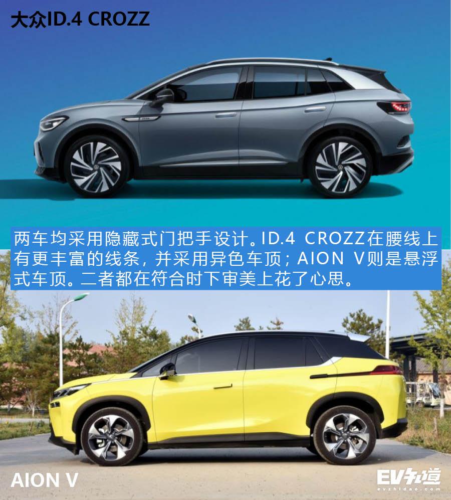 20万紧凑型纯电动SUV之争 大众ID.4 CROZZ对比AION V